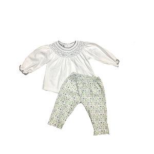 Magnolia Baby Winter Blooms Printed Bishop 2PC Pant Set