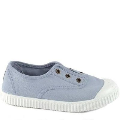 Victoria No Lace Sneaker Nube (Lt Blue/Grey)