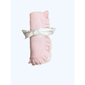 Magnolia Baby Mia and Ollie's Classic Ruffle Receiving Blanket