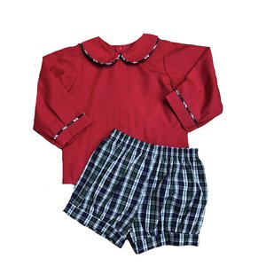 Remember Nguyen Red Kris Banded Short Set