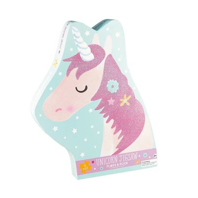 Floss and Rock Fairy Unicorn 40 pc Jigsaw with Shaped Box