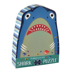 Floss and Rock Shark 12pc Shaped Jigsaw with Shaped Box