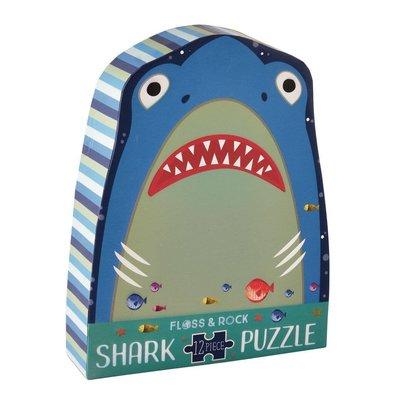 Floss and Rock Shark 12pc Shaped Jigsaw with Shaped Box