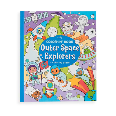 Ooly Color-in-Book: Outer Space Explorers