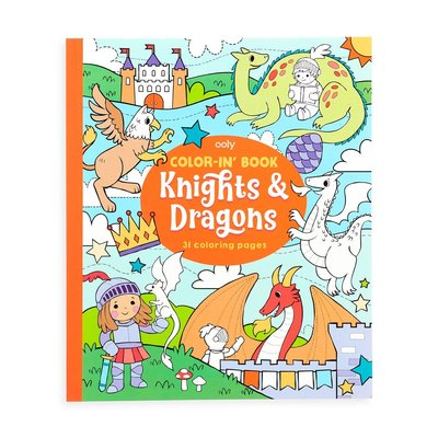 Ooly Color-in-Book: Knights & Dragons