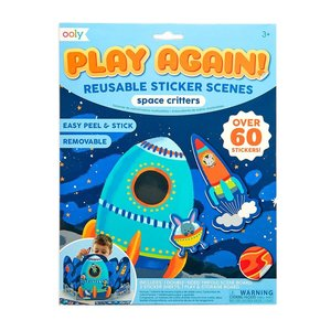 Ooly Play Again! Reusable Sticker Scenes:Space Critters