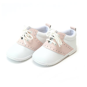 L'Amour White/Pink Saddle Oxfords