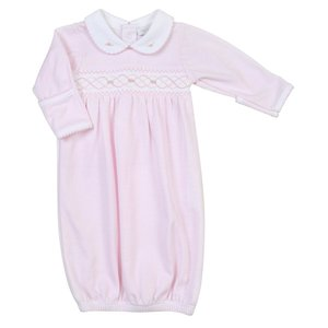 Magnolia Baby Claire and Clive's Classics Pink Smocked Gown