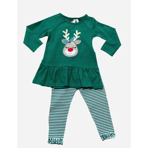 Globaltex Reindeer Tunic with Stripe Legging