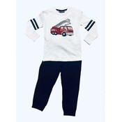Globaltex Heather Cream Fire Engine Top with Black Terry Pant
