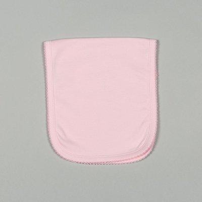 Baby Bliss Pink Pima Burping Pad Pink Trim