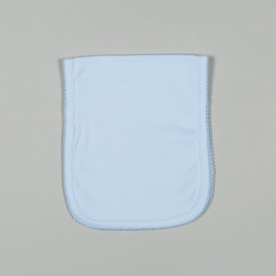 Baby Bliss Blue Pima Burping Pad Blue Trim