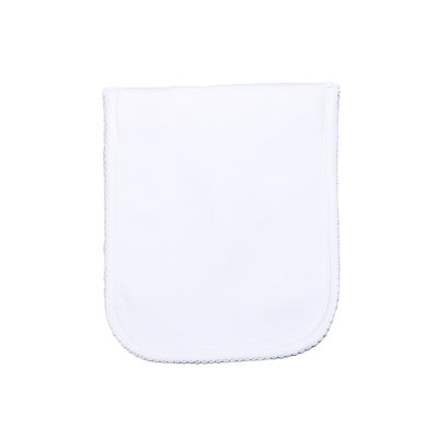 Baby Bliss White Pima Burping Pad White Trim