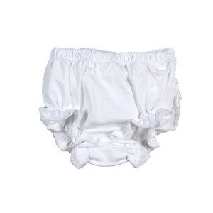 Baby Bliss Monogram Me Pima Diaper Cover White