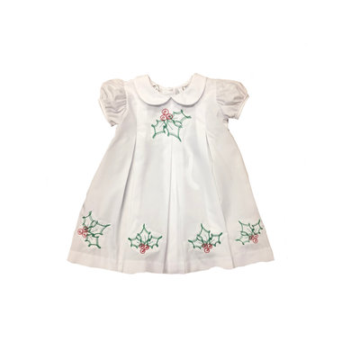 Lulu Bebe LLC White Holly Embroidered Dress