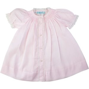 Feltman Brothers Layette Open Dress Pink Daygown