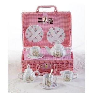 Delton Products Bunny Porcelain Tea Set