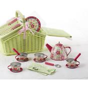 Delton Products Sorrel Tin 18pc Tea Set