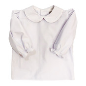 Bailey Boys White L/S Button Back Blouse