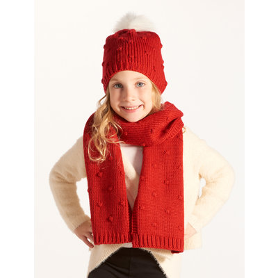 Red Winter Hat & Scarf Set