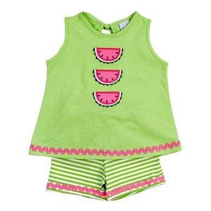 Bailey Boys Watermelon Girl's Knit Tee Short Set