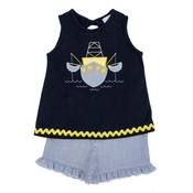 Bailey Boys Shrimp Boat Girl's Short Set