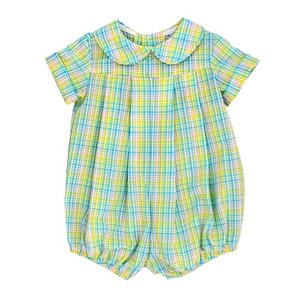 Bailey Boys Preppy Plaid Seersucker Dressy Short Bubble