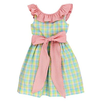 Bailey Boys Preppy Plaid Seersucker Dress