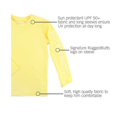 Rugged Butts Lemon Long Sleeve Logo Rash Guard