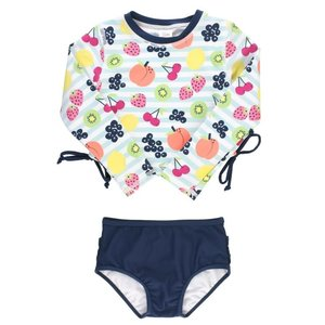 Ruffle Butts Fruit Fiesta Cropped Long Sleeve Rash Guard Bikini