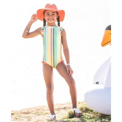 Ruffle Butts Saltwater Stripe Flutter 1PC