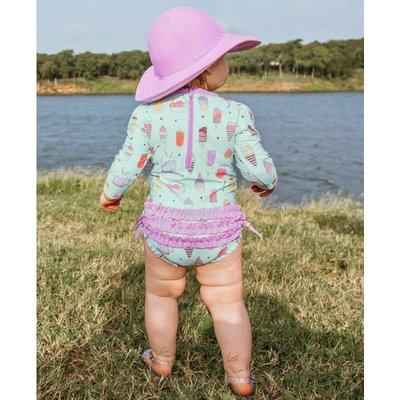 Ruffle Butts Anything is Popsicle 1PC Rash Guard