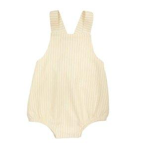 Beaufort Bonnet Company Yellow And White Vertical Stripe Stillman Sunsuit