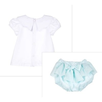 Sophie & Lucas Mint Sherbert Scallop Top w/Bloomer