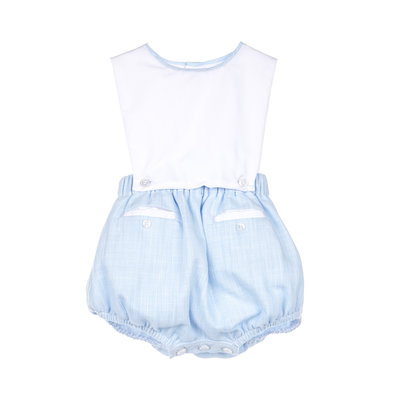 Sophie & Lucas Blue Carolina Boy Overall