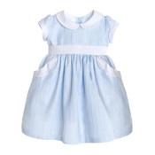 Sophie & Lucas Blue Carolina Scallop Dress