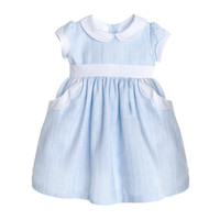 Sophie & Lucas Blue Carolina Scallop Dress