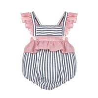 Sophie & Lucas Red/Navy Pass Time Sunsuit