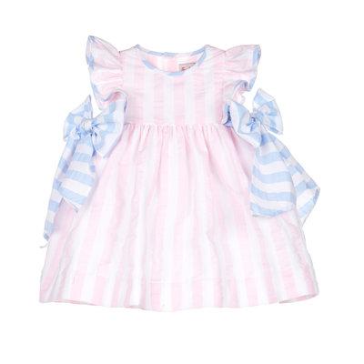 Sophie & Lucas Pink Sunny Stripe Dress w/Bows
