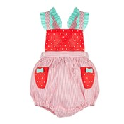Sophie & Lucas Red Strawberry Sunsuit