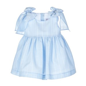 Sophie & Lucas Blue Stripe Bow Dress