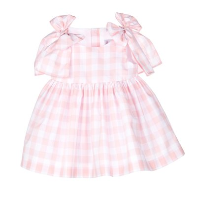 Sophie & Lucas Pink Check Bow Dress