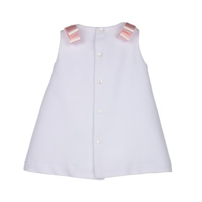 Luli & Me Pink Embroidery Scallop Aline Dress