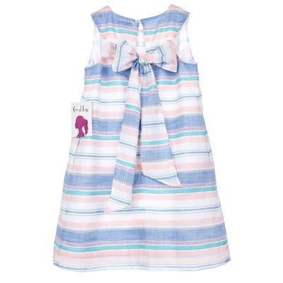 Gabby Pastel Stripe Jelly Swing Dress