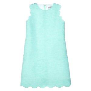 Gabby Mint Scallop Solid Shift Dress