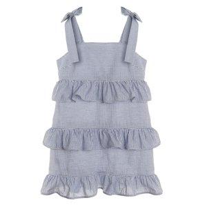 Gabby Navy Seersucker Party Dress