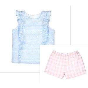 Gabby Blue/Pink Gracie 2PC Short Set