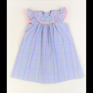 Funtasia, Too Blue Plaid Bishop Dress