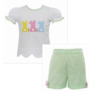 Claire & Charlie Cottontails Girl Short Set