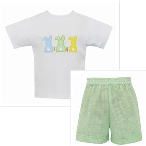 Claire & Charlie Cottontails Boy Short Set